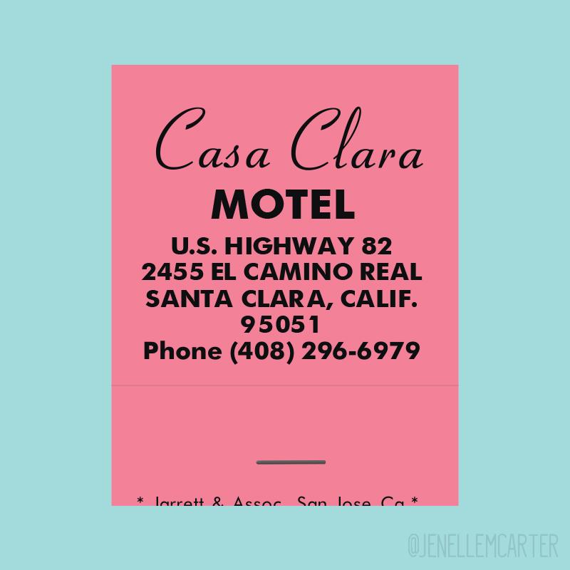 Casa Clara Motel Matchbook Cover