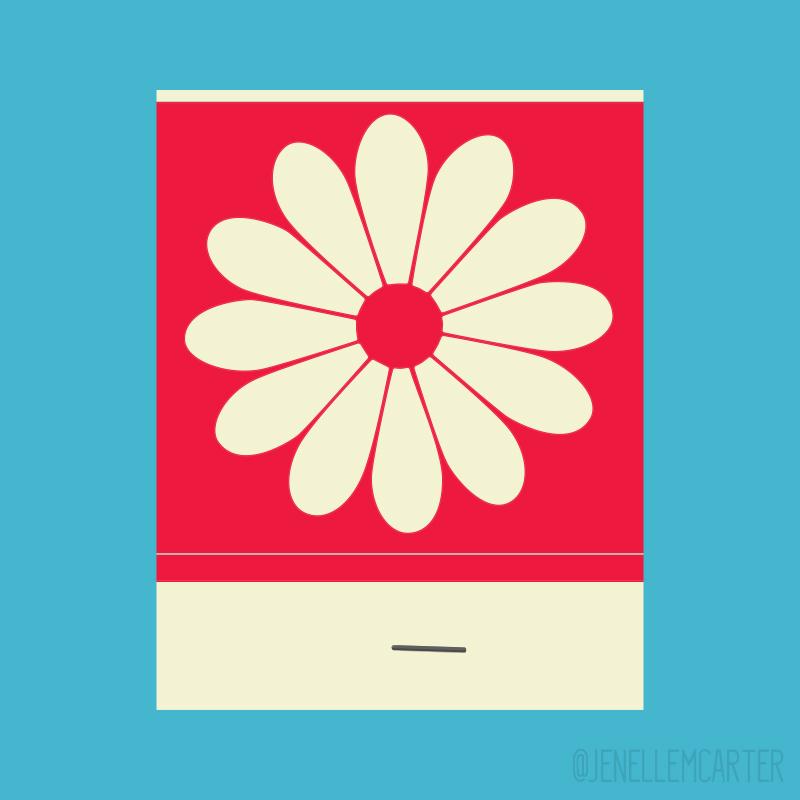 Flower Matchbook Cover