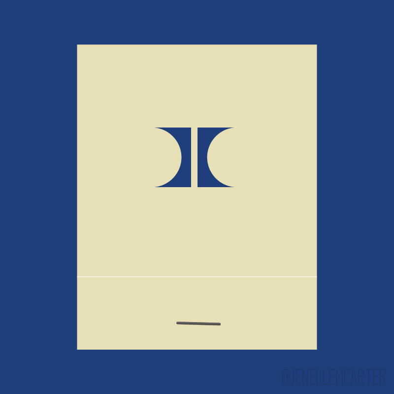 Hilton Blue H Matchbook Cover