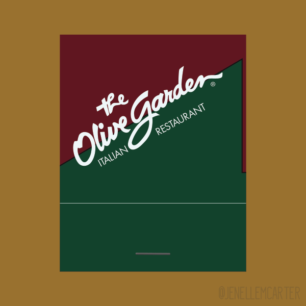 The Olive Garden Matchbook Cover