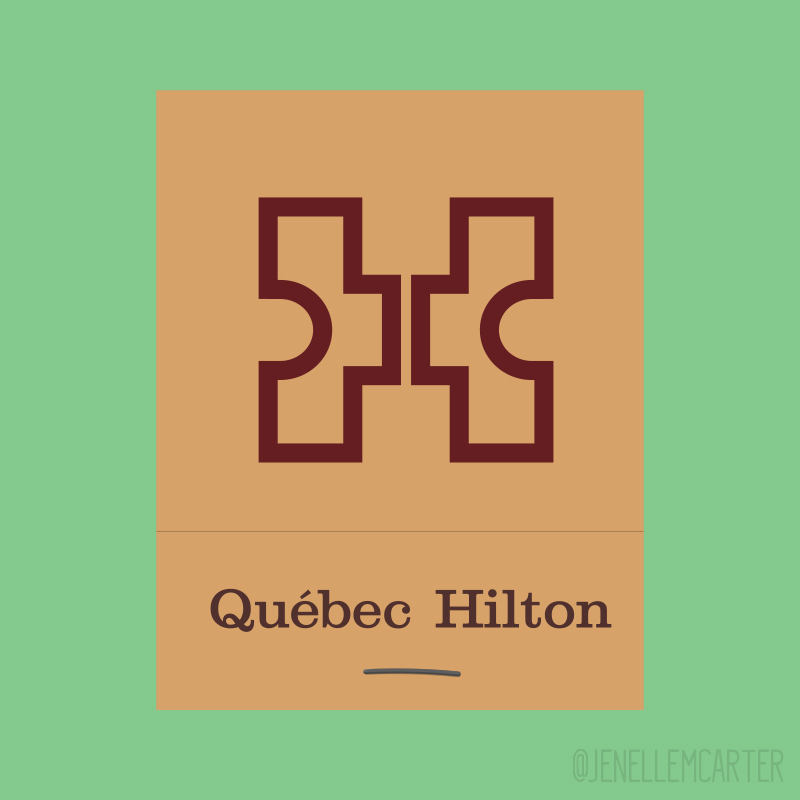 Quebec Hilton Matchbook Cover