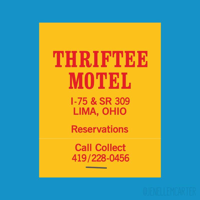 Thriftee Motel Matchbook Cover