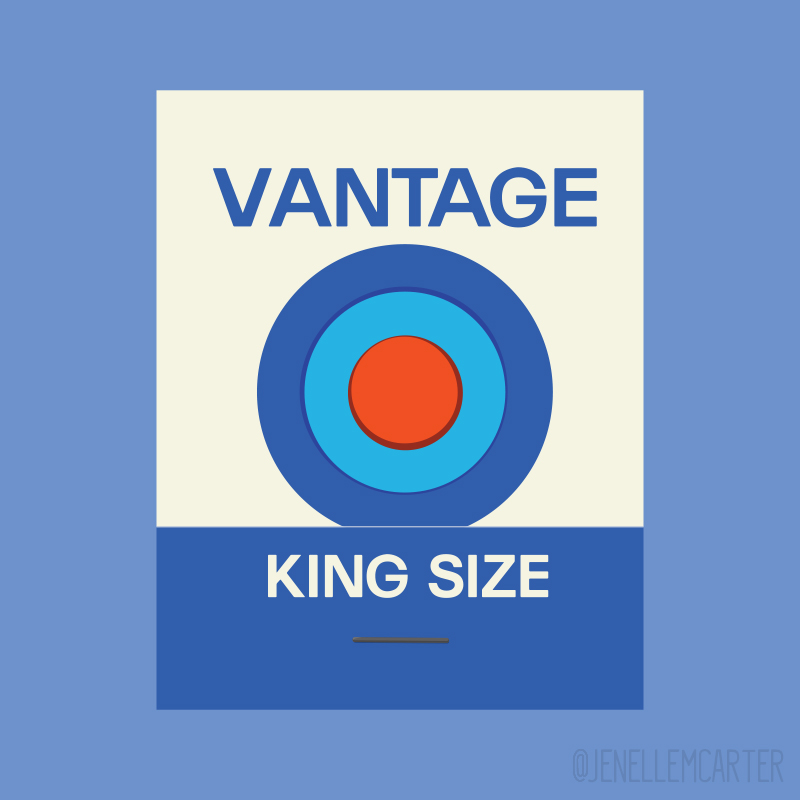 Vantage Matchbook Cover