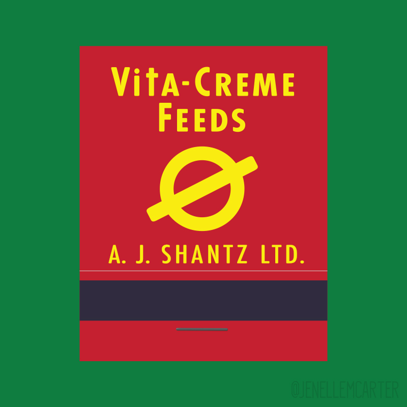 Vita-Creme Feeds Matchbook Cover